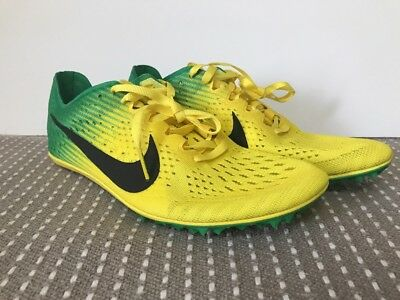 8088fb200676d Nike Zoom Victory Elite Oregon Track Spike Shoes Size 7 Yellow Green  920768-703
