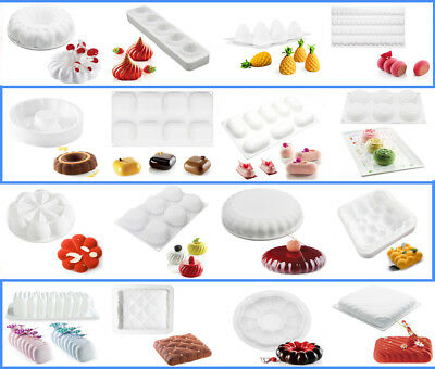 Silicone Mousse Muffin Pans Cake Mold Decorating DIY Mold Baking Mould Tools