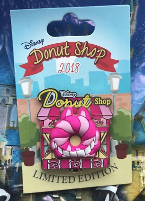 Cheshire Cat Disney Donut Shop Pin LE 3000 Parks Pin Of The Month 2018 Alice