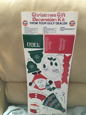 Vintage Gulf Dealer Promotional Give Away Christmas Gift  Decoration Kit Sheet