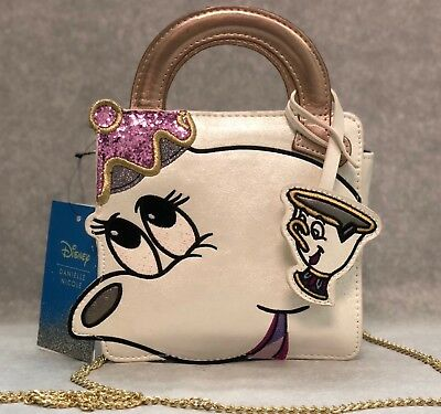 e7fe2f408c6 Disney Danielle Nicole Beauty   The Beast Mrs Potts   Chip Crossbody Bag ...