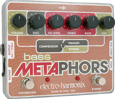Electro Harmonix Bass Metaphors - Preamp / EQ / Distortion