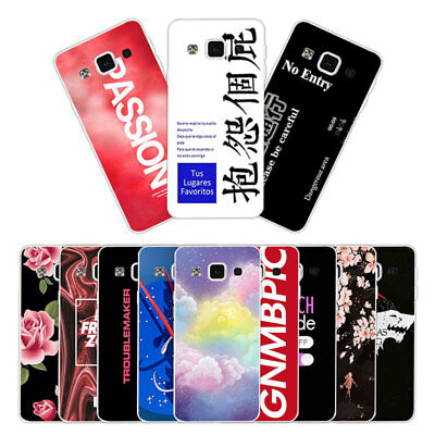 Soft TPU Silicone Case For Samsung Galaxy A5 2015 SM-A500F Back Cover Skin Words