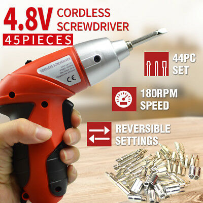 45in1 Cordless Screwdriver Set Electric Drill Driver Foldable 180° Rechargeable