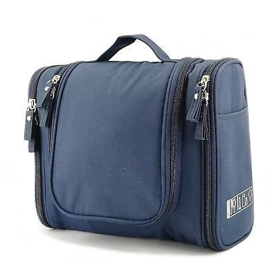 Large Hanging Toiletry Bag Travel Organizer Pouch Makeup Cosmetic Men Women Blue