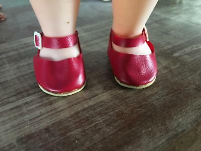 Vintage Doll Shoes - Red - England - Size 1  Great Price  -  Faerie Glen Wear.