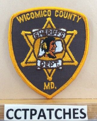 Wicomico County, Maryland Sheriff Small (Police) Shoulder Patch Md