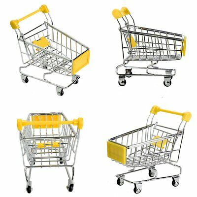 Mini Cute Supermarket Shopping Handcart Trolly Cart Storage Toy Container UU