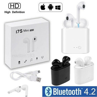 Wireless i7S Mini In-Ear Headset Sports Earphone Charging Box for iPhone Android