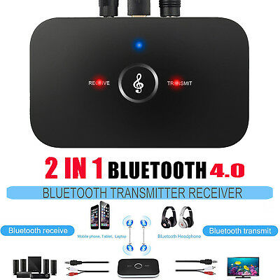 2 in1 Wireless Bluetooth Audio Transmitter Receiver HIFI Music Adapter 3.5MM RCA