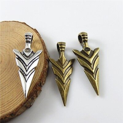52630 Vintage Style Mixed Colors Arrow Head Look Crafts Pendant Charms 12pcs/lot