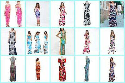 US SELLER, 60 dresses wholesale clothing summer maxi dress retro sexy
