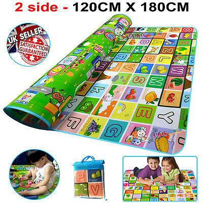 Kids Crawling 2 Side Soft Foam Educational Game Play Mat Picnic Carpet 120X180Cm