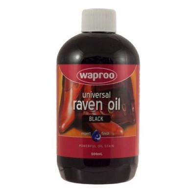 Waproo Raven Oil Leather Dye Black 50ml For Boots & Saddle
