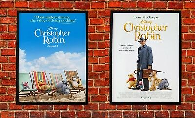 "Christopher Robin Movie Poster Ewan McGregor Pooh Art Poster 21×14 27×40/"" 32×48/"""