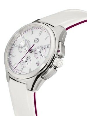 Chronograph Wristwatch Original Mercedes Benz by Swiss Made Ladies Lady Crystal