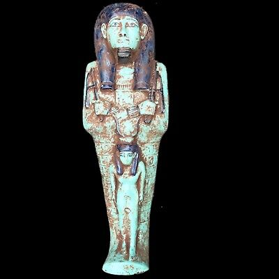 VERY LARGE EGYPTIAN HIEROGLYPHIC SHABTI ,  664 - 332 BC 33cm High!!!! OVER 2.6KG