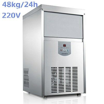 Commercial Ice Cube Maker Auto Frozen Machine Stainless Steel 48kg / 24h 220V