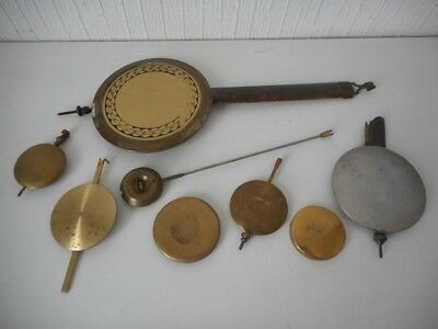 Mixed Antique Clock Pendulums Job Lot