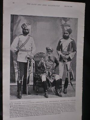 OFFICERS OF THE HOUSEHOLD TROOPS OF THE NIZAM + Queen's Birthday Review, 1896