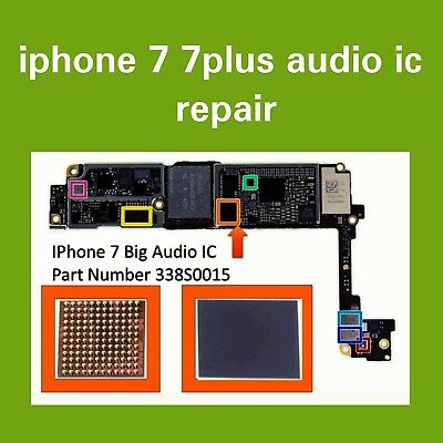 IPhone 7/7 Plus Audio IC No Mic/Speaker, Slow.  Boot Repair Service
