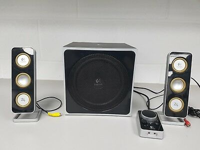 80W 21 LOGITECH Z 4 Computer Speakers With Subwoofer