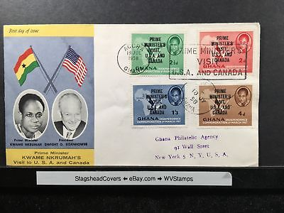 Ghana FDC 19 Jul 1958 Kwame Nkrumah's Visit to US & Canada
