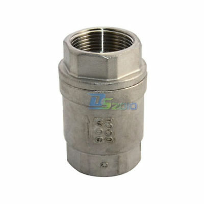 """1-1/4"""" Check Valve WOG 1000 Spring Loaded In-line Stainless Steel CF8M 4.5PSI"""
