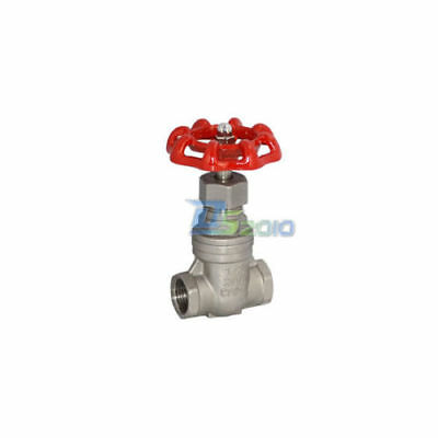 "1/2"" Gate Valve Stainless Steel SS 316 Inside Screw CF8M Heavy Duty BSPT"