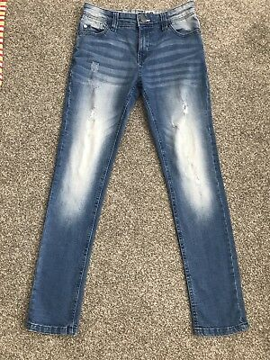 Boys Next Skinny Jeans Age 11 Distressed Style
