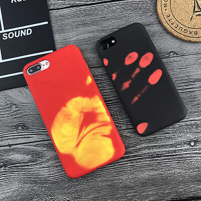Funny Heat Sensitive Color Change Magic Back Case Cover For iPhone 6 6s 7 7Plus