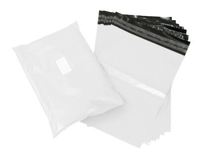 """5/10/20/50/100 BAGS 10""""x14"""" STRONG POLY MAILING BAG QUALITY POSTAGE POSTAL WHITE"""