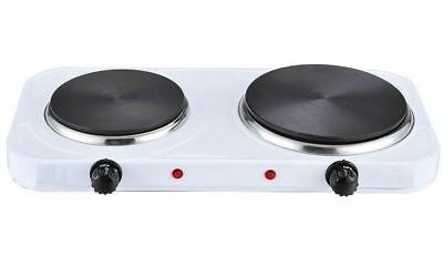 New Double Hotplate Cooker Portable Hob Twin Dual Electric Hot Plate Table Top