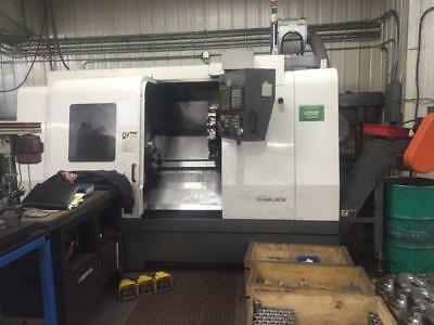 "Used Hwacheon HI Tech 400 CNC Turning Center Lathe Fanuc Tailstock 12"" Chuck '05"