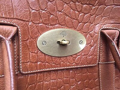fcd4e7ccf3 ... bag a6571 ba796 australia mulberry bayswater in oak brown croc embossed  leather 702e7 d205a ...