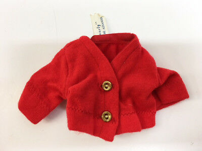 "Vintage 1962 Madame Alexander 12"" Smarty Doll Clothes Red Tagged Jacket # 1155"