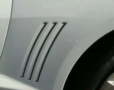 2010 - 2015 Chevrolet Camaro THIN GILL VENT GRAPHIC DECAL INSERTS - MATTE BLACK