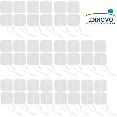 Innovo Medical 44PC Latex-Free Tens Unit Japanese Gel Reusable Electrode Pads