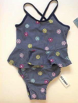 Old Navy Toddler Girls Flowers 2-Piece Swimsuit (NWT)