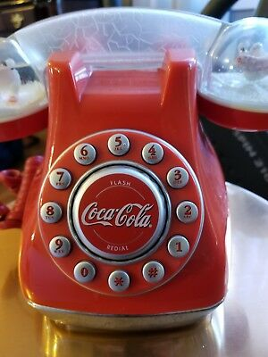 Coca-Cola Antique Christmas Push Button Telephone