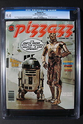 PIZZAZZ #1 Marvel Magazine 1977 STAR WARS Tarzan comics KISS RARE CGC NM 9.4