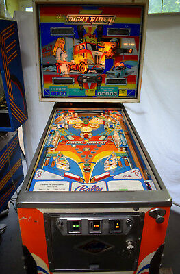 Bally NIGHT RIDER Kult Flipperautomat-spielbereit Flipperklassiker!