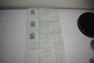 Vintage 1925 American Bank Note Co Boston MASS Receipt for Bonds Order Lot