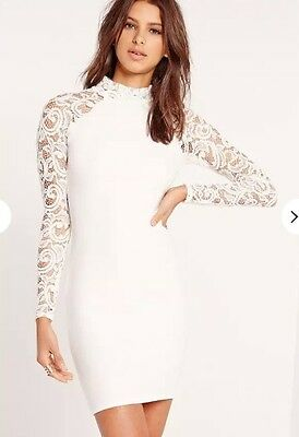 d4a6c06236 ASOS LOVE TRIANGLE V Neck Mini Dress In All Over Lace (UK Size 10 ...
