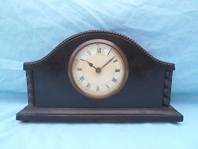 Vintage Wooden Cased 30 Hr Mechanical Mantle Clock Excellent Condition Spares/re