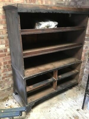 Large Antique Cupboard Carcass - Fire Damaged For Spares And Repairs