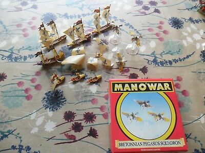 Warhammer Man O War Brettonian Fleet Well Painted Galleon Buccaneer Corsair