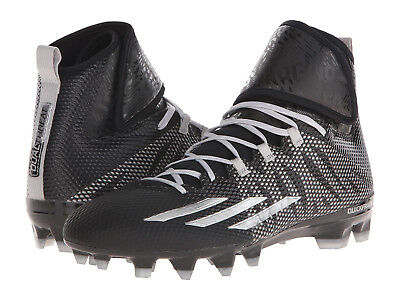 f9514eb7f283 Mens Adidas Dualthreat Mid Black Athletic Multi-Purpose Cleats S84836 Size  13