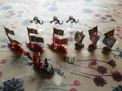 Warhammer Man O War Orc Fleet Well Painted Hulk Drillakilla Wyvern Bigchukka