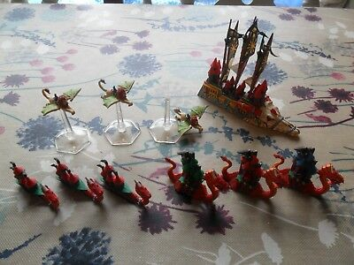 Warhammer Man O War Dark Elf Fleet Well Painted Black Ark Naggaroth Doomreaver
